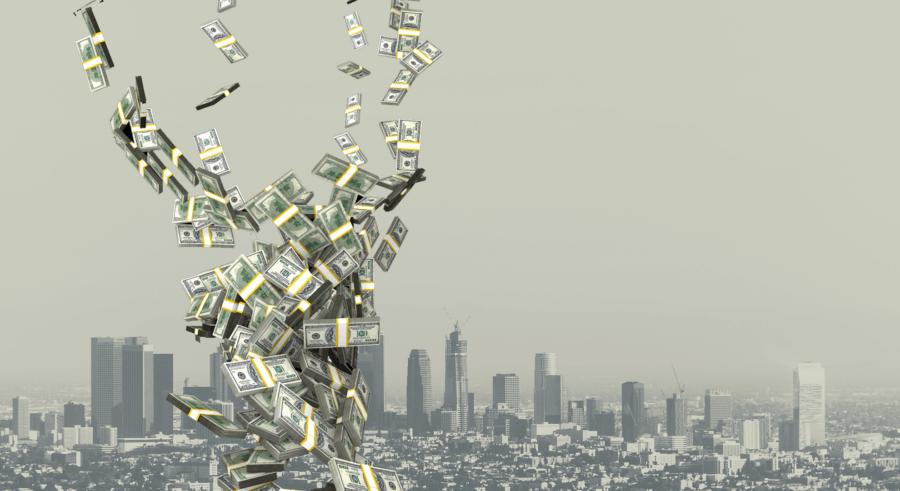 Raining money in Los Angeles
