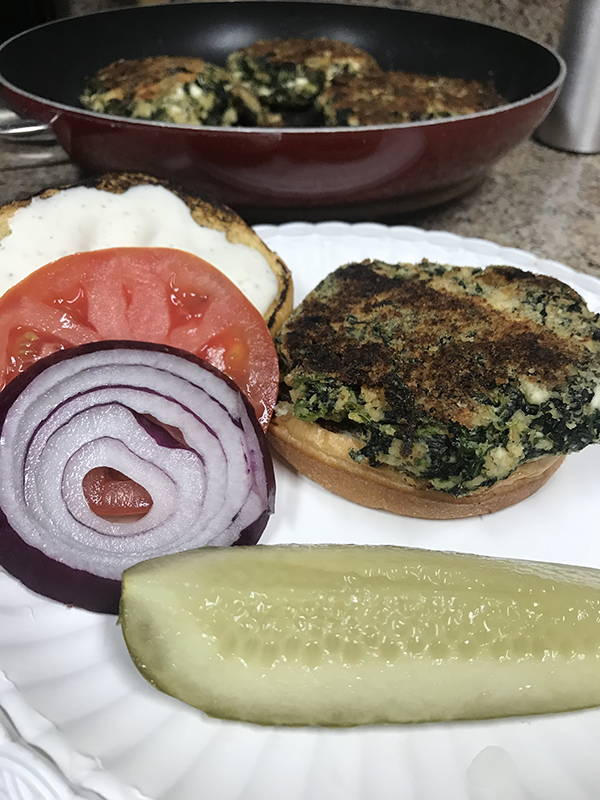 Spinach Feta Burgers